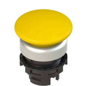 E2 1PU2F5490 Pizzato Elettrica Желтая грибовидная кнопка с пружинным возвратом