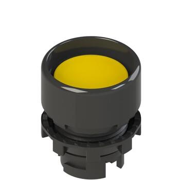 E2 1PU2P5210 Pizzato Elettrica Желтая вдавленная кнопка с пружинным возвратом