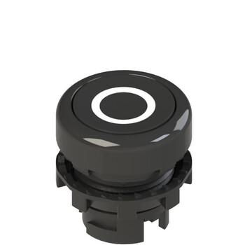 E2 1PU2R121L1 Pizzato Elettrica Черная плоская кнопка с пружинным возвратом, с маркировкой