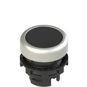 E2 1PU2R1290-T6 Pizzato Elettrica Черная плоская кнопка с пружинным возвратом