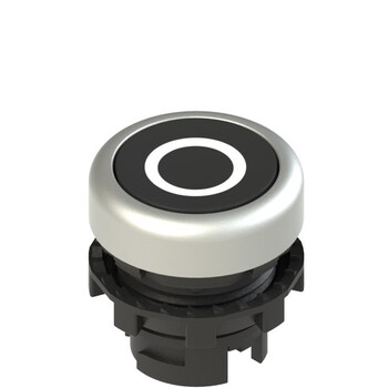 E2 1PU2R129L1 Pizzato Elettrica Черная плоская кнопка с пружинным возвратом, с маркировкой
