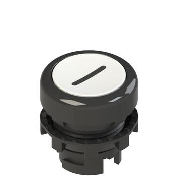 E2 1PU2R221L2 Pizzato Elettrica Белая плоская кнопка с пружинным возвратом, с маркировкой